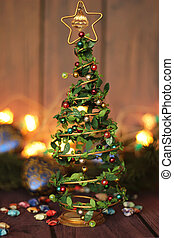 Christmas tree decoration toy, place for text
