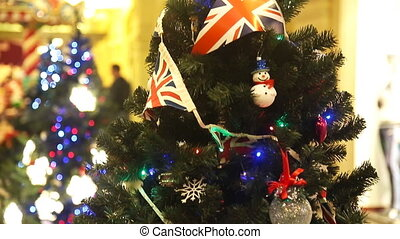 Christmas tree decoration with british flag