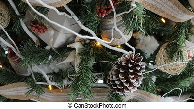 Christmas tree decorations for the New Year.
