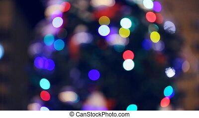 Christmas tree defocused as background