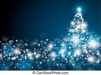 Christmas tree design at night vector illustration