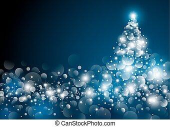 Christmas tree design at night vector illustration