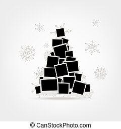 Christmas tree design made from photo frames, insert your ...