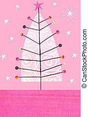 Christmas Tree - Contemporary illustration of a christmas...