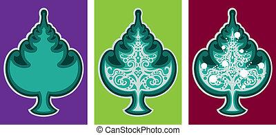 Christmas tree emblem
