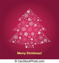 Christmas Tree - stylized Christmas tree on decorative...