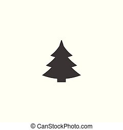 Christmas tree - flat vector icon