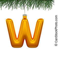 Christmas Tree Font: W