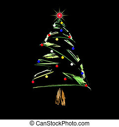 Christmas Tree - Fractal abstract design of christmas tree...