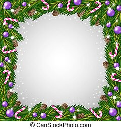 Christmas tree frame and candy canes