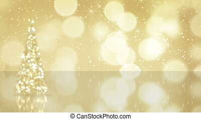 christmas tree from gold stars seamless loop