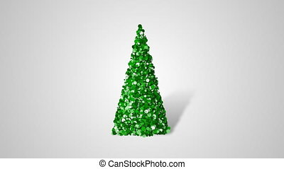 Christmas tree from slow moving particulars - Merry...