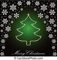 Christmas tree from stars. vector background