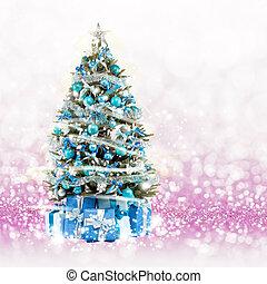 Christmas tree from the xmas lights