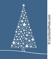 Christmas tree from white stars