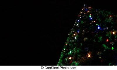Christmas tree garland lights