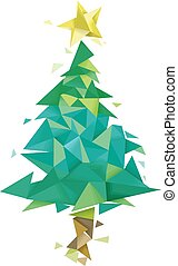 Christmas Tree Geometric Design