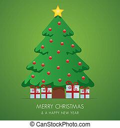 christmas tree gift box