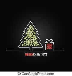 christmas tree gift box design background