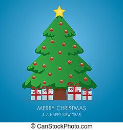christmas tree gift boxes hanging o