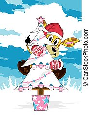 Christmas Tree & Giraffe