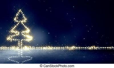 christmas tree glowing lights loop background