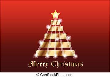 Christmas tree gold vector image