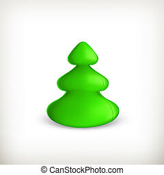 Christmas tree, green vector