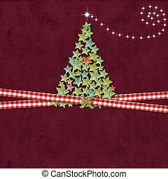 Christmas tree greeting background
