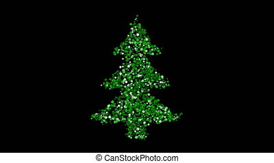 Christmas tree greeting card animation - Merry Christmas...