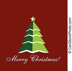 Christmas Tree greetings card icon