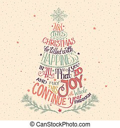 Christmas tree hand-lettering - Vintage hand-lettering...