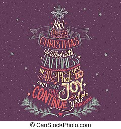 Christmas tree hand-lettering