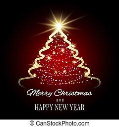 Christmas Tree Holiday Festive Background
