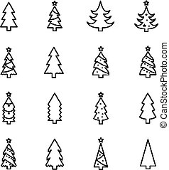 Christmas tree icon collection