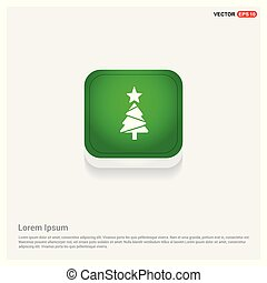 Christmas Tree Icon Green Web Button