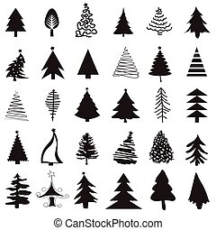 Christmas tree icon set