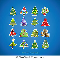 Christmas tree icons vector design