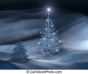 christmas tree III - a rendition of a christmas tree in...