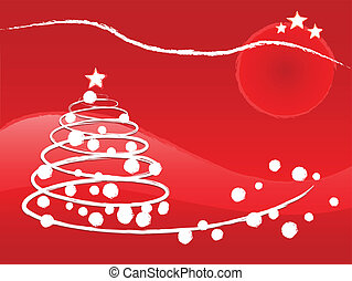 Christmas tree illustration