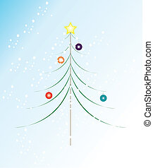 Christmas Tree Illustration - A vector illustration of a...