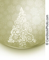 Christmas tree illustration on elegant. EPS 8