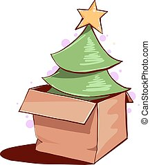 Christmas tree in a box.