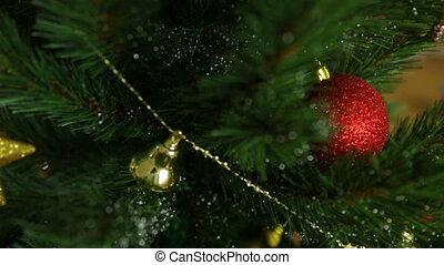 Christmas tree in closeup