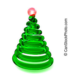 Christmas tree in glass - Christmas tree in smooth shiny...