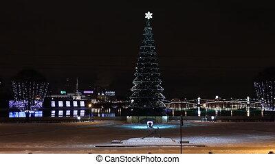Christmas tree in St Petersburg