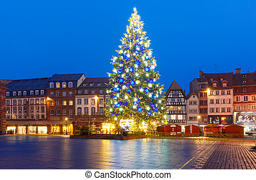 Christmas Tree in Strasbourg, Alsace, France