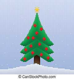 Christmas Tree in Stripes
