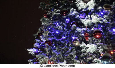 christmas tree in the night sky