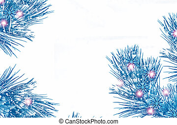 Christmas tree in the snow isolated on a white background. greeting card.